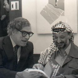 Dr. M.T. Mehdi meets with Palestinian Leader Yasir Arafat in 1969